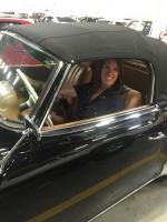 Rita in her dream car